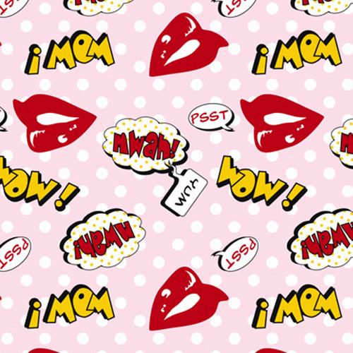 Click Props Backdrops Lips Pink Backdrop (5 x 5')