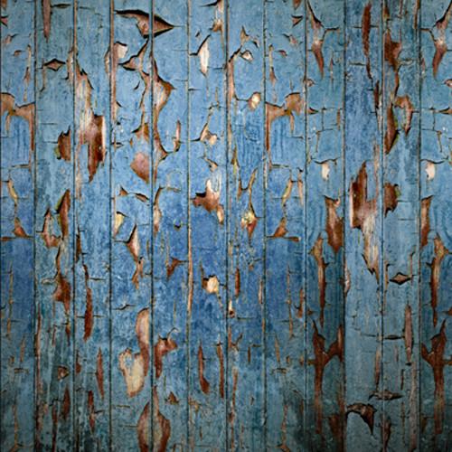 Click Props Backdrops Peeling Paint Blue Backdrop (5 x 5')