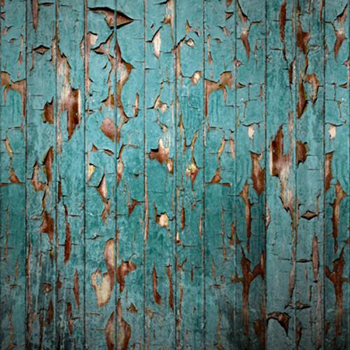 Click Props Backdrops Peeling Paint Teal Backdrop (5 x 5')