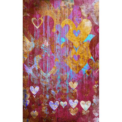 Click Props Backdrops Hearts Brown Backdrop (5 x 8')