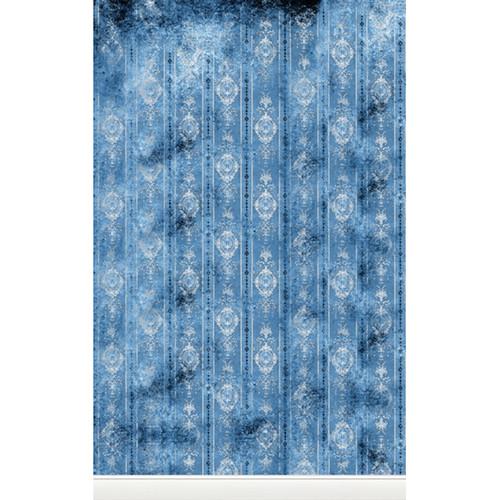 Click Props Backdrops Distressed Wallpaper Blue Backdrop (5 x 8')