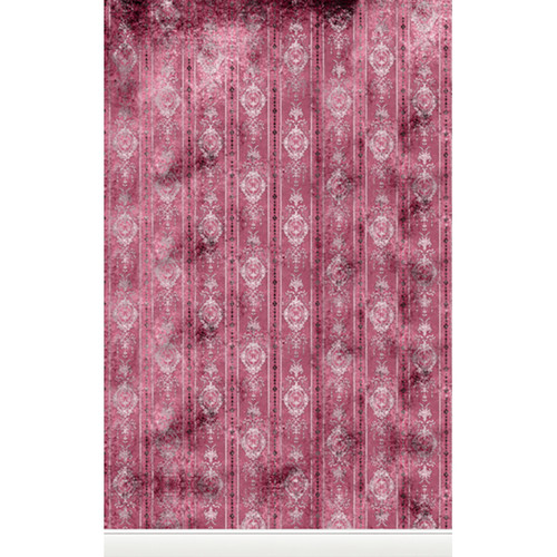 Click Props Backdrops Distressed Wallpaper Pink Backdrop (5 x 8')