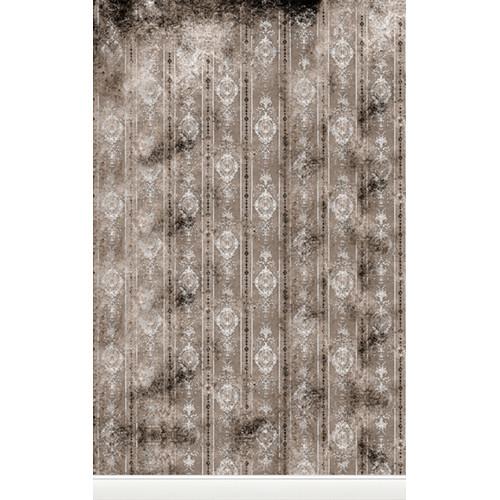 Click Props Backdrops Distressed Wallpaper Gray Backdrop (5 x 8')