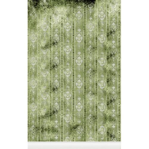 Click Props Backdrops Distressed Wallpaper Green Backdrop (5 x 8')