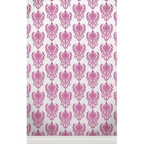 Click Props Backdrops Damask2 W Pink Backdrop (5 x 8')