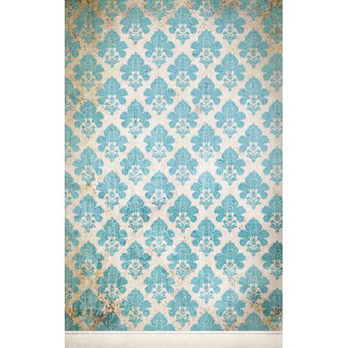 Click Props Backdrops Damask Distressed Blue Backdrop (5 x 8')
