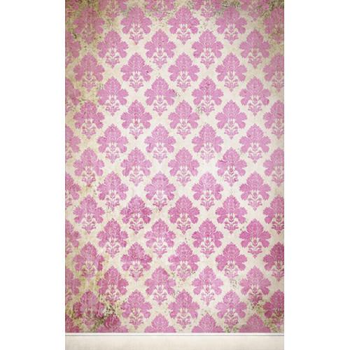 Click Props Backdrops Damask Distressed Pink Backdrop (5 x 8')