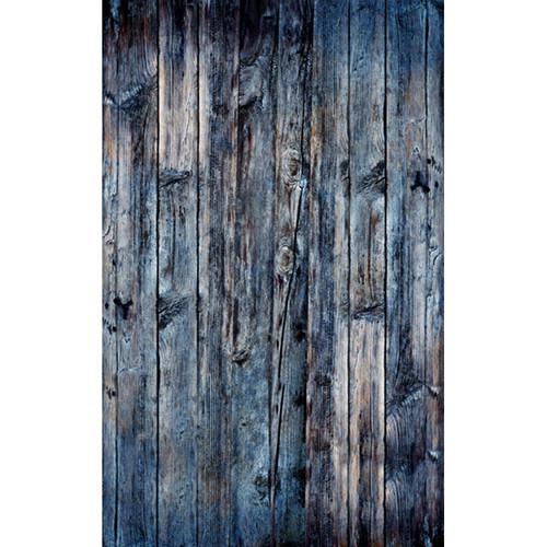 Click Props Backdrops Wood Vertical Blue Backdrop (5 x 8')