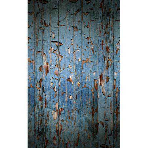 Click Props Backdrops Peeling Paint Blue Backdrop (5 x 8')