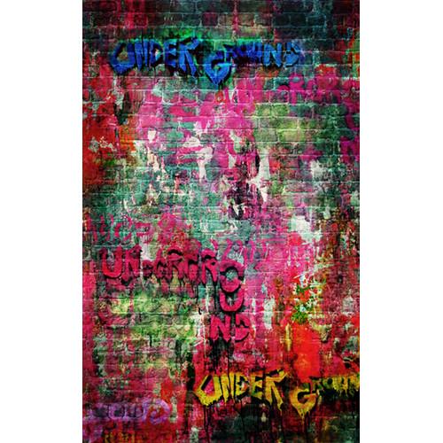 Click Props Backdrops Brick Graffiti Backdrop (5 x 8')