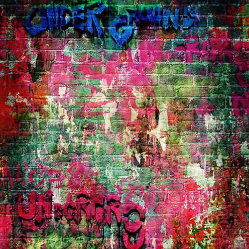 Click Props Backdrops Brick Graffiti Backdrop (5 x 5')