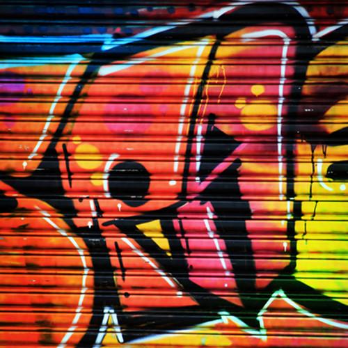 Click Props Backdrops Shutter Graffiti 1 Backdrop (5 x 5')