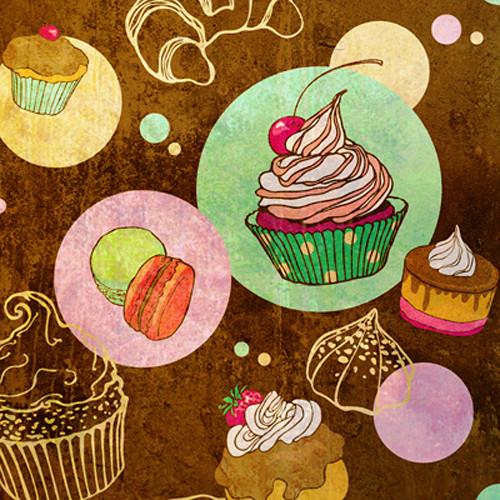 Click Props Backdrops Cupcakes Backdrop (5 x 5')