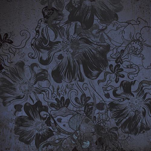 Click Props Backdrops Flowerbomb Blue Backdrop (5 x 5')