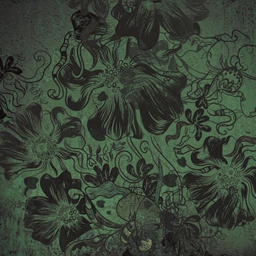 Click Props Backdrops Flowerbomb Green Backdrop (5 x 5')