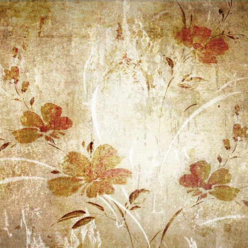 Click Props Backdrops Oriental Floral Wallpaper Backdrop (5 x 5')