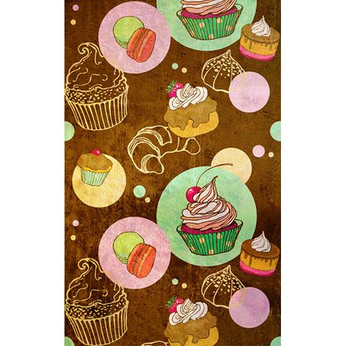 Click Props Backdrops Cupcakes Backdrop (5 x 8')