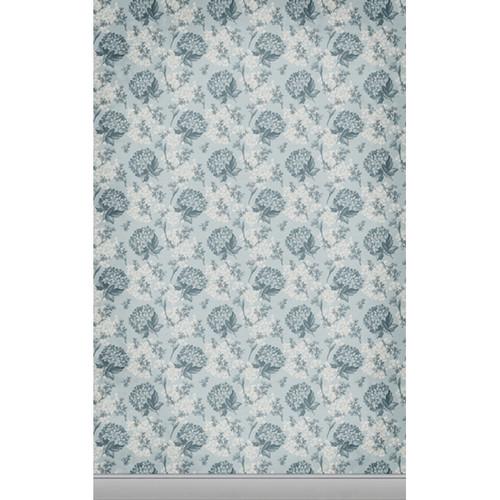 Click Props Backdrops Floral Wallpaper Blue Backdrop (5 x 8')