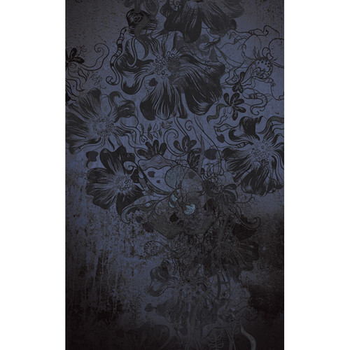 Click Props Backdrops Flowerbomb Blue Backdrop (5 x 8')