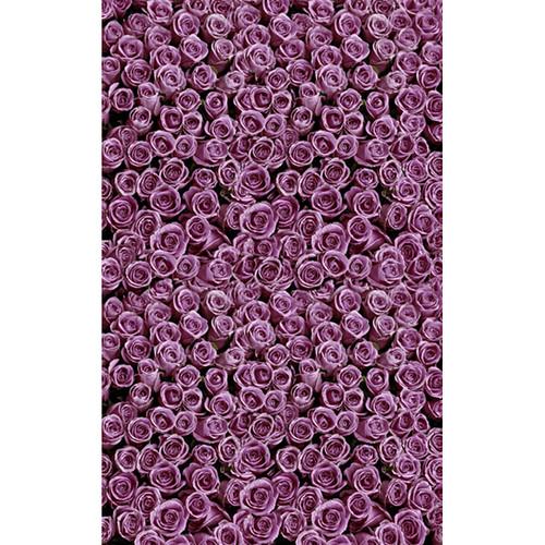 Click Props Backdrops Roses Purple Backdrop (5 x 8')
