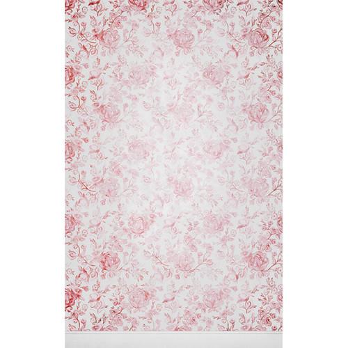Click Props Backdrops Faded Roses Pink Backdrop (5 x 8')