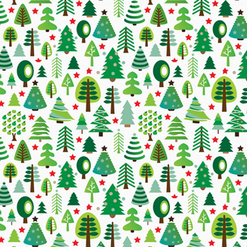 Click Props Backdrops Christmas Trees Backdrop (5 x 5')