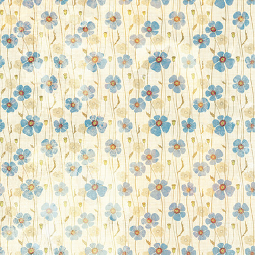 Click Props Backdrops Dirty Blue Poppies Backdrop (5 x 5')