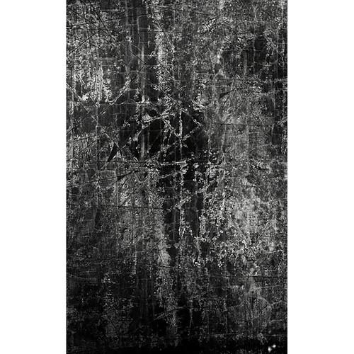 Click Props Backdrops Black Scratch Backdrop (5 x 8')