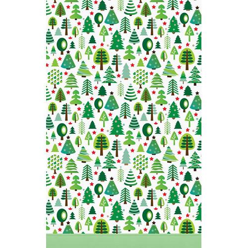 Click Props Backdrops Christmas Trees Backdrop (5 x 8')