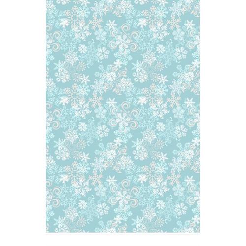 Click Props Backdrops Snowflake Blue Backdrop (5 x 8')