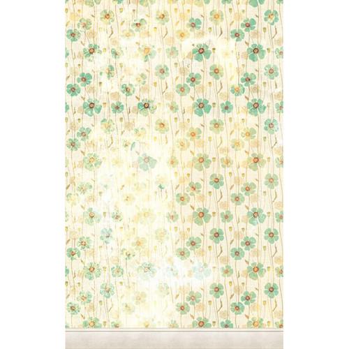 Click Props Backdrops Dirty Green Poppies Backdrop (5 x 8')