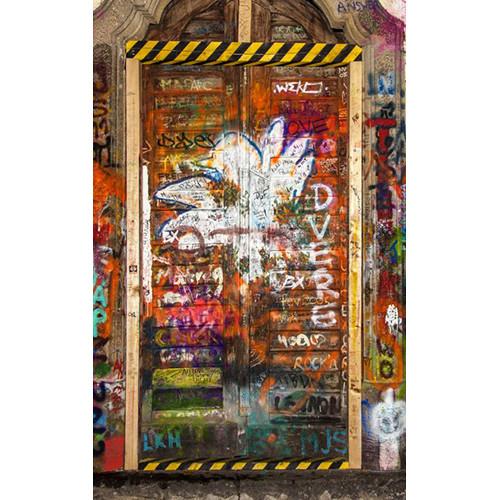 Click Props Backdrops Graffiti Door 2 Backdrop (5 x 8')