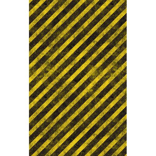 Click Props Backdrops Hazard Stripes Backdrop (5 x 8')