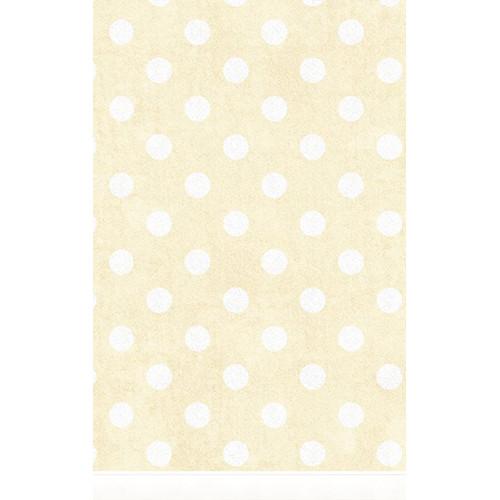 Click Props Backdrops Large Polka Dot Yellow Backdrop (5 x 8')