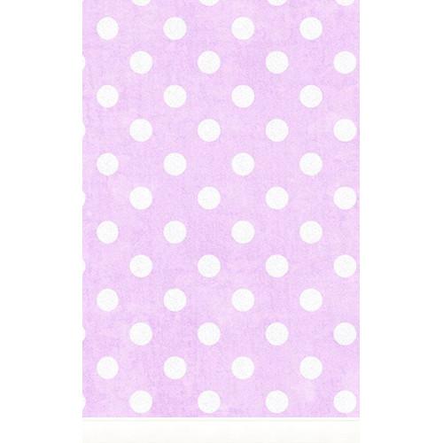 Click Props Backdrops Large Polka Dot Purple Backdrop (5 x 8')