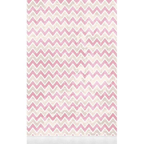 Click Props Backdrops Zigzag Pink Backdrop (5 x 8')