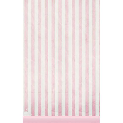 Click Props Backdrops Pink Candy Stripe Backdrop (5 x 8')