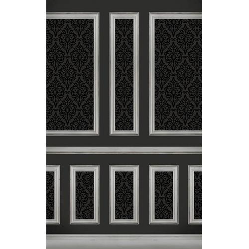 Click Props Backdrops Wallpapered Panels Black Backdrop (5 x 8')