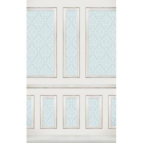 Click Props Backdrops Wallpapered Panels Blue Backdrop (5 x 8')