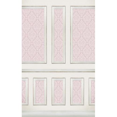 Click Props Backdrops Wallpapered Panels Pink Backdrop (5 x 8')