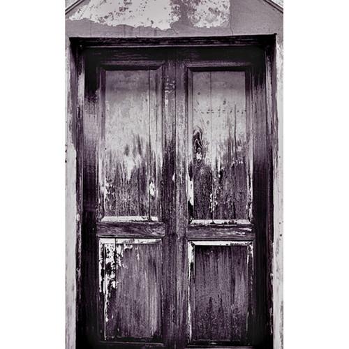 Click Props Backdrops Wooden Door Grey Backdrop (5 x 8')