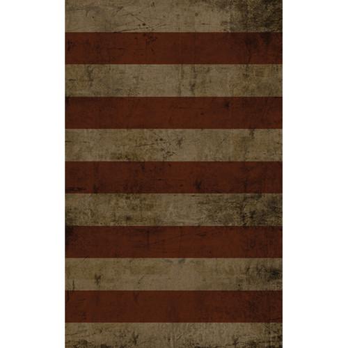Click Props Backdrops Wide Stripe Red Backdrop (5 x 8')