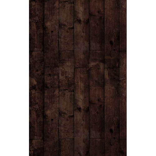 Click Props Backdrops Floor Wood Stained Black Backdrop (5 x 8')