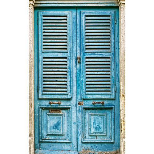 Click Props Backdrops Blue Slated Window Backdrop (5 x 8')