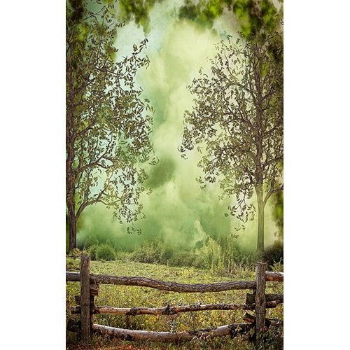 Click Props Backdrops Forest Fence Backdrop (5 x 8')