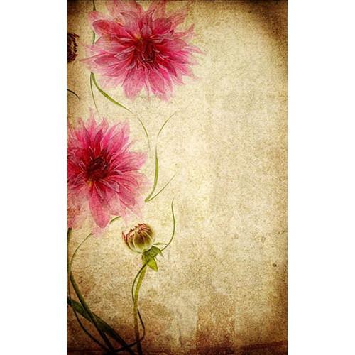 Click Props Backdrops Parchment Flowers Backdrop (5 x 8')