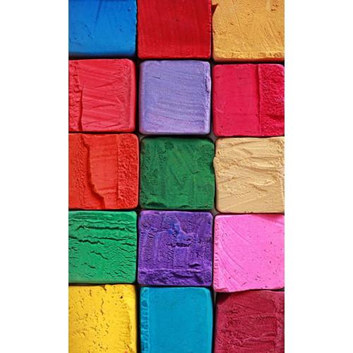 Click Props Backdrops Colored Blocks Backdrop (5 x 8')