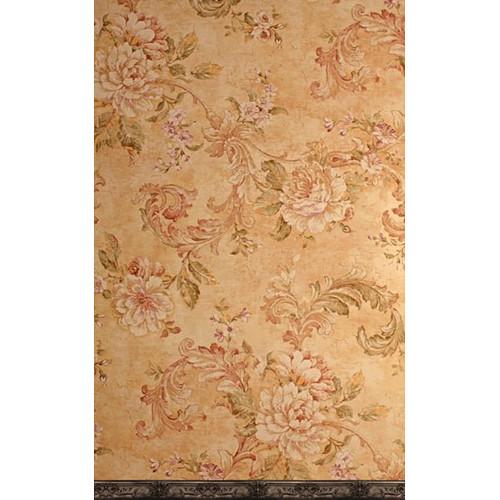 Click Props Backdrops Medieval Flower Gold Backdrop (5 x 8')