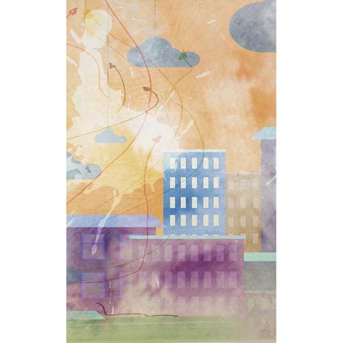 Click Props Backdrops Watercolor City Backdrop (5 x 8')