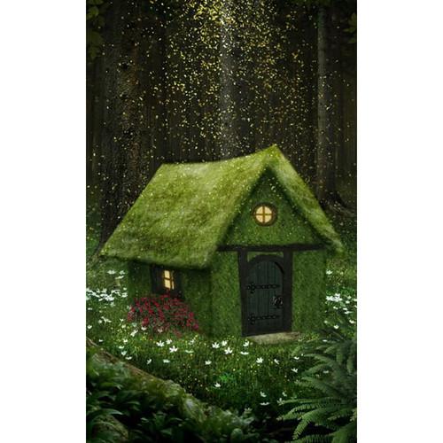 Click Props Backdrops Enchanted Cottage Backdrop (5 x 8')